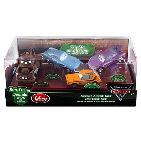 Disney / Pixar CARS 2 Movie Exclusive 148 Die Cast Car 4Pack Secret Agent Ops Mater, Grem, Finn McMissile Holley Shiftwell by Disney Interactive Studios