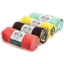 Toalla de Microfibra Sternitz- Compacta - Absorbente - Secado Rápido - Perfecta para Natación, Gym, Running, Ciclismo, Senderismo, Yoga, Pilates, etc. - Microfiber Towel (Negro, 40cm x 80cm)
