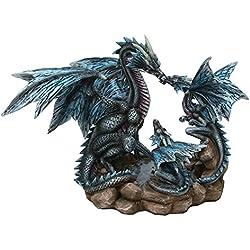 Nemesis Now Dragons Nest - Figura Decorativa (30 cm, 24,5 cm), Color Azul