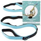 VIVE Stretch Riemen Stretch Band zu verbessern Flexibilität-Yoga Gurt-Training & Physiotherapie Gürtel für Reha, Stretching Out, Pilates, Tanz & Gymnastik