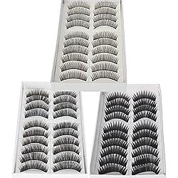 30 Paar Natural & Regular lange falsche Wimpern Wimpern von Boolavard ® TM