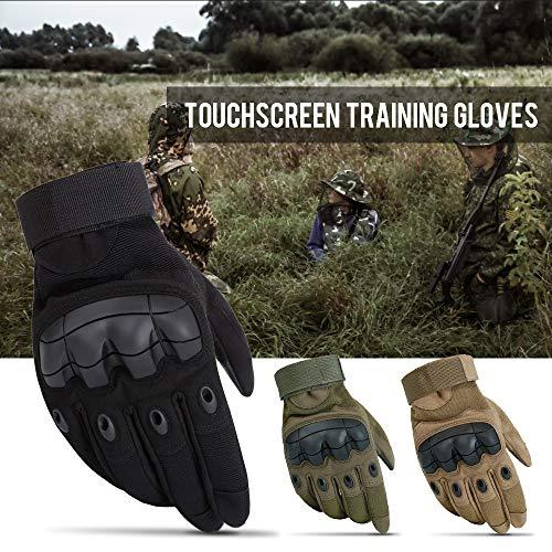 Walmeck- Touchscreen Taktische Handschuhe Militärische Harte Knöchelhandschuhe Anti-Rutsch-Radfahren Training Jagd Arbeiten CS Gaming Handschuhe -