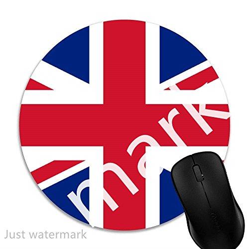 Maus-Pad Britische britische Flagge,7 inch rund Mouse-Pad mit rutschfester Unterlage Standard 1V43