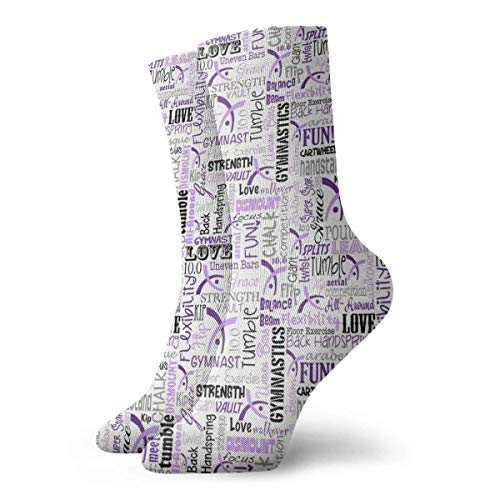 ords Purple Crew Socks Casual Funny for Sports Boot Hiking Running Etc. ()