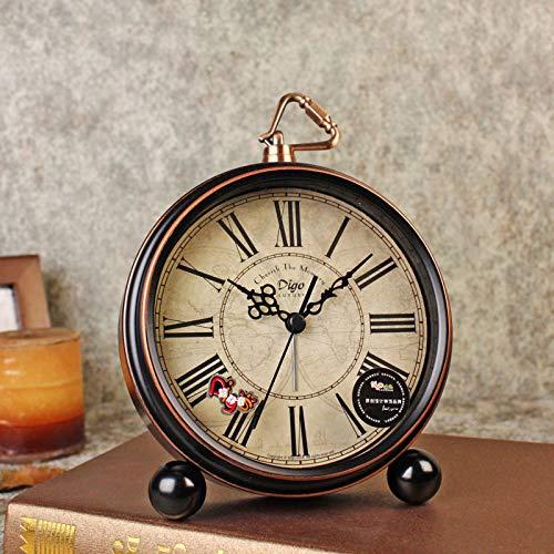 GYHJG Despertador Clásico De Campana Doble Vintage