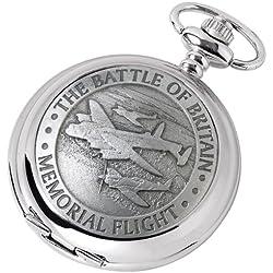 Battle of Britain Pocket Watch - Quartz Movement - Memorial Flight design - with chain, presentation case & warranty