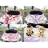 Kit de décoration de voiture de mariage Series mignon ours avec poupée 3couleur, rouge, Taille unique