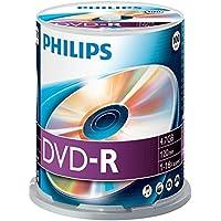 DVD-R vergini Philips DM4S6B00F 4,7GB, 120min. in campana da 100 pezzi