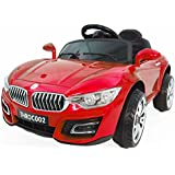 Toyhouse Avenger Luxurious Rechargeable Battery Operated Ride-on Car Painted with Remote for Kids, Red
