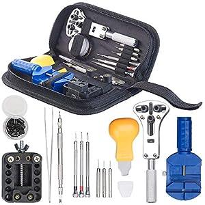 AGT Uhrmacherset: 13-teiliges Uhrmacher-Werkzeug-Set zur Uhren-Reparatur (Uhrenmacherwerkzeug)