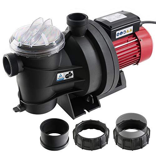 Arebos Pompe de Piscine Pompe de Filtration Pompe de Circulation 800 W