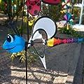 Windspiel - Little Magic - UV-beständig und wetterfest - Windrad: Ø28cm, Motiv: 35x13cm, Gesamthöhe: 85cm - inkl. Fiberglasstab von Colours in Motion auf Du und dein Garten