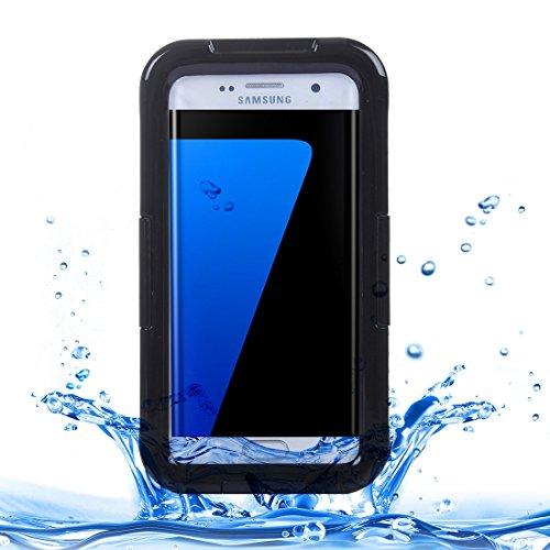 Galaxy S7 Unterwassergehäuse, Fone-Stuff® - Slim, IPx8 FSK Schutzstaubdichtes Ganzkörper-Schutzhülle - Schwarz