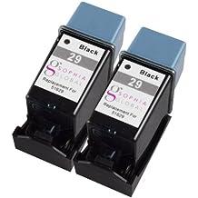 Sophia Global–Set de 4cartuchos de tinta remanufacturados para HP 29y 49línea