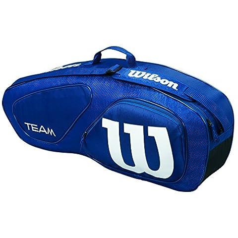 Wilson Team II 3PK Bag NY Tennistasche, Navy, One Size