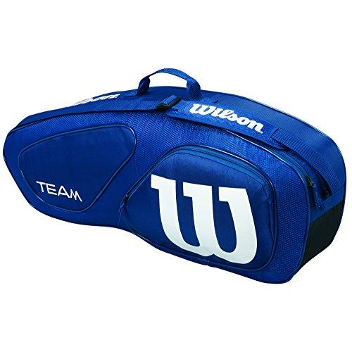 Wilson Unisexe Sac de Tennis, WRZ852603, Team II 3PK, pour tout Type de Joueur, Bleu, Taille Unique