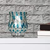 Home Centre Galaxy Aura Hurricane Votive - Blue