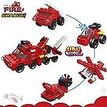 OneNext-Freddo-Bomboniere-per-BambiniGoodie-BagsPremiCompleanno-Polizia-MilitariCamion-dei-Pompieri-Edilizia-Serie-Mini-Set-di-Mattoncini-Giocattolo16Pack-4in1-16in1