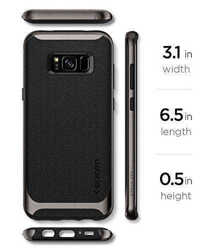 detailed look c13fa 3bf84 Samsung Galaxy S8 Plus Case, Spigen® [Neo Hybrid] Galaxy S8 Plus Case with  Flexible Inner Protection and Reinforced Hard Bumper Frame for Galaxy S8 ...