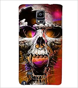 PrintDhaba Skull D-2801 Back Case Cover for SAMSUNG GALAXY NOTE 2 (Multi-Coloured)