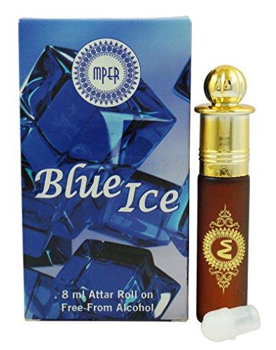 Madni Blue Ice Attar Parfümöl 100% rein und natürlich - 8 ml (Parfümöl Natürliche)
