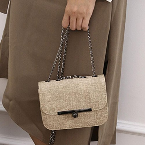 Adatti a donne catena in pelle borsetta Cachi