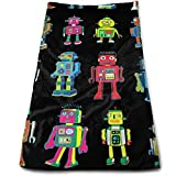 DAICHAI Robot Line-Up Cool Towel Beach Towel Instant Cool Ice Towel Gym Quick Dry Towel Microfibre Towel Cooling Sports Towel for Golf Swimming Yago Football Beach Garden Holiday
