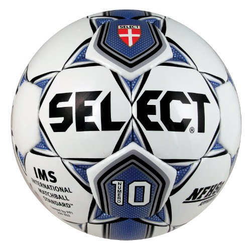 Select Sport America Numero 10 Fußball, Unisex Kinder, White/Royal Blue