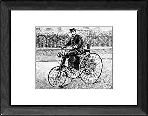 Tableau Affiche de Leon Serpollet sur son vapeur tricycle, 1888 (Import Allemagne)