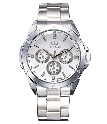 Heiße ChenXi Art- und Weiseuhr Armbanduhr-Quarz-Geschäfts-Mann-Uhr-Armbanduhr-Weiß