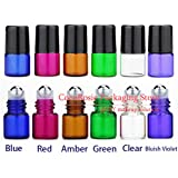 Generic 2ml, Bluish Violet, Roller R1 : 50pcs/lot 1ml, 2ml Coloful Empty Roll On Bottle Essential Oil Bottle Small...