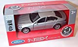 welly silver B.M.W 535I car pull back and go action model