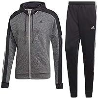 Adidas MTS Game Time Tracksuit, Hombre, Medium Grey Heather/Black/White, M