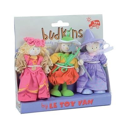 - Juego de 3 hadas y muñecas Budkins de hadas para la familia de casa de muñecas de Le Toy Van