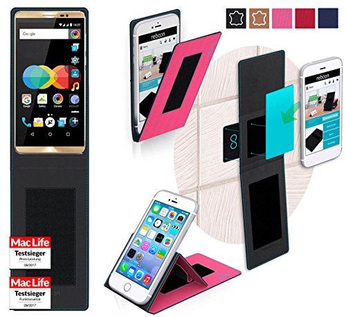 reboon Hülle für Allview P8 eMagic Tasche Cover Case Bumper   Pink   Testsieger