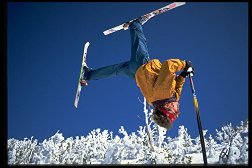 225005 Pole Flip Heavenly Valley Lake Tahoe USA A4 Photo Poster Print 10x8
