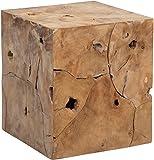HomeTrends4You 471503 Arco Beistelltisch, Holz, Teak Wurzelholz, 40 x 40 x 45 cm