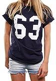 Spencer Football T-Shirt Damen Mode für Mollige - Bud Trikot 63 - Oversize Top übergröße lässig geschnitten XXXXXL