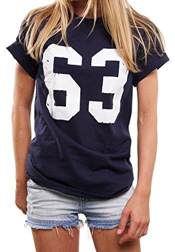Spencer Football T-Shirt Damen Mode für Mollige - Bud Trikot 63 - Oversize Top übergröße lässig geschnitten XXXL
