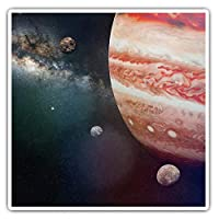 Awesome Square Stickers (Set of 2) 7.5cm - Planet Jupiter Space NASA Galaxy Fun Decals for Laptops,Tablets,Luggage,Scrap Booking,Fridges,Cool Gift #24036