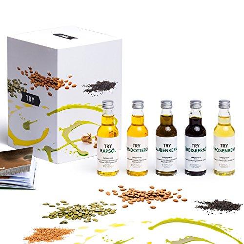 Öl Set Geschenkset 5x50ml I Bekannt aus Höhle der Löwen I Kaltgepresstes Öl aus der Region I Hochwertige Geschenke Feinschmecker Probierset