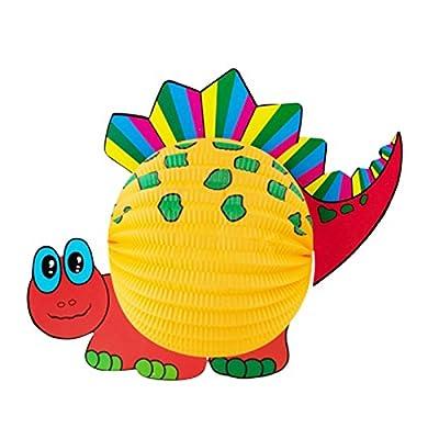 """Set Laterne """"Dino"""" inkl. 50 cm LED Laternenstab Lampion Laternenumzug Lampionumzug Papierlampion Dinosaurier Saurier von OLShop AG auf Du und dein Garten"""