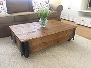 Uncle joe s vintage style shabby chic coffee table with for Amazon table de salon
