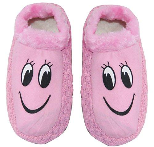 Neska Moda Premium Women's Cotton Pink 1 Pair Indoor Slippers