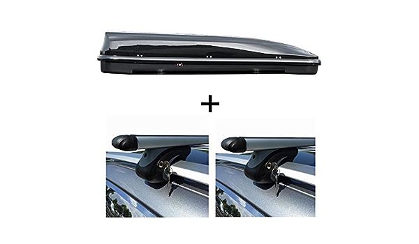 Vdp Dachbox 460 Liter Relingträger Alu Kombi Kompatibel Mit Dacia Duster 08 13 Abschließbar Auto