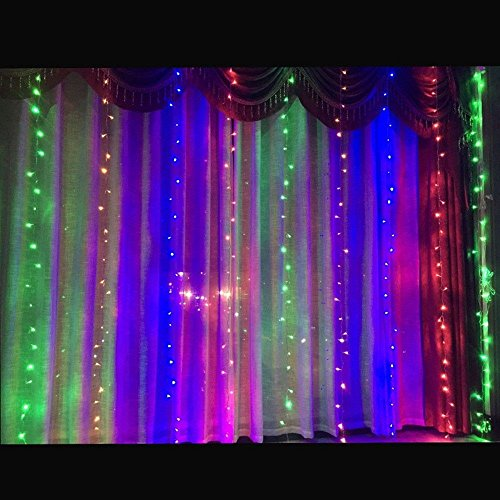 Coupon Matrix - Valuetom Curtain Style LED String Lights for Christmas,New Year and More Festivals Home and Garden Decorations Multicolor