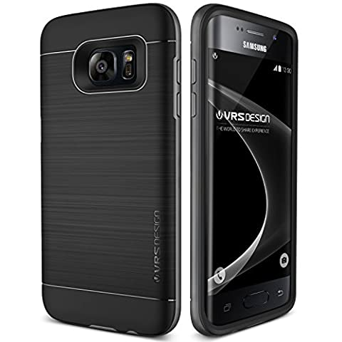 Coque Galaxy S7 Edge, VRS Design [High Pro Shield][Noir] - [Housse Protection][Anti Chocs Case][Miltary Grade][Anti Scratch Etui] pour Samsung Galaxy S7 Edge