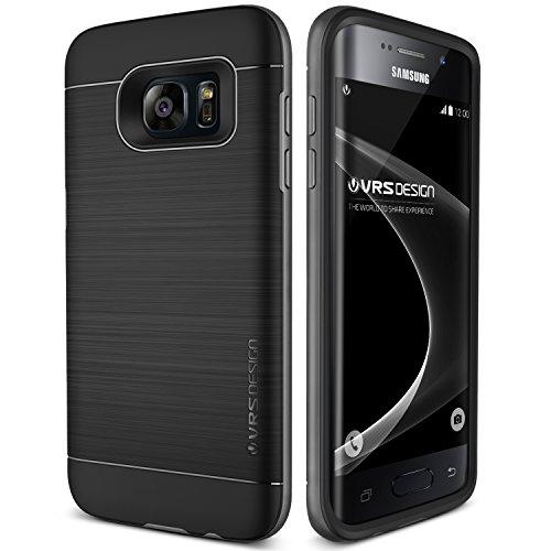 Galaxy S7 Edge Hülle, VRS Design® Schutzhülle [Schwarz] Schlagfesten Stoßstangen TPU Bumper Case Kratzfeste Schlanke Handyhülle [High Pro Shield] für Samsung Galaxy S7 Edge 2016