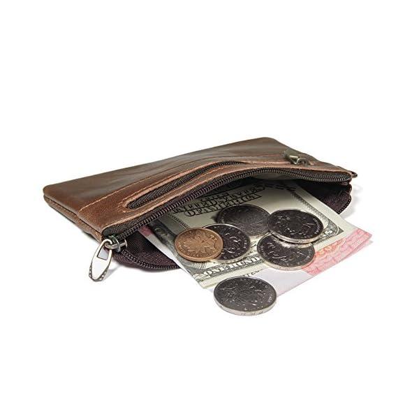 MeiliYH Uomo Vero Pelle Piccoli Portafogli Borsa Borsa di Monete Chiave del Pacchetto 5 spesavip