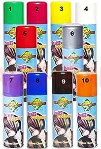 Bombes Spray Bouteilles Peinture à cheveux Soirée Carnaval 125ml - Couleur JAUNE